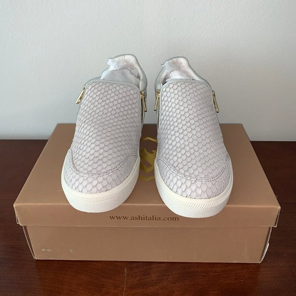 Ash Shoes   Snakeskin Sneaker With